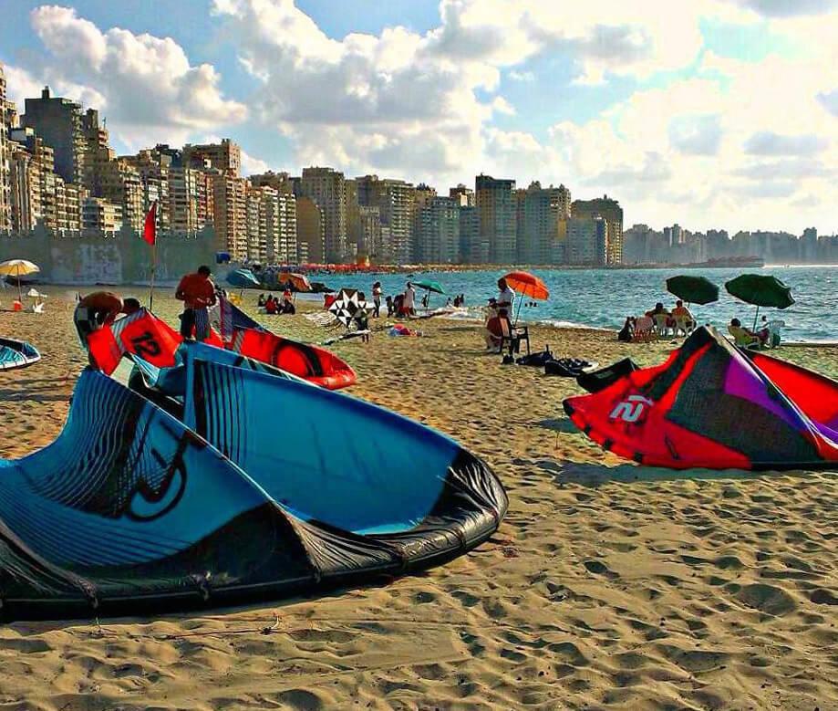 Kitesurfing In Shatby Alexandria Egypt Kite Jungle